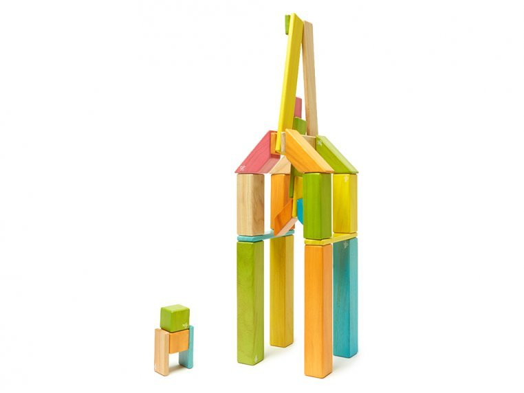 42 Piece Magnetic Wooden Block Set by Tegu - 5