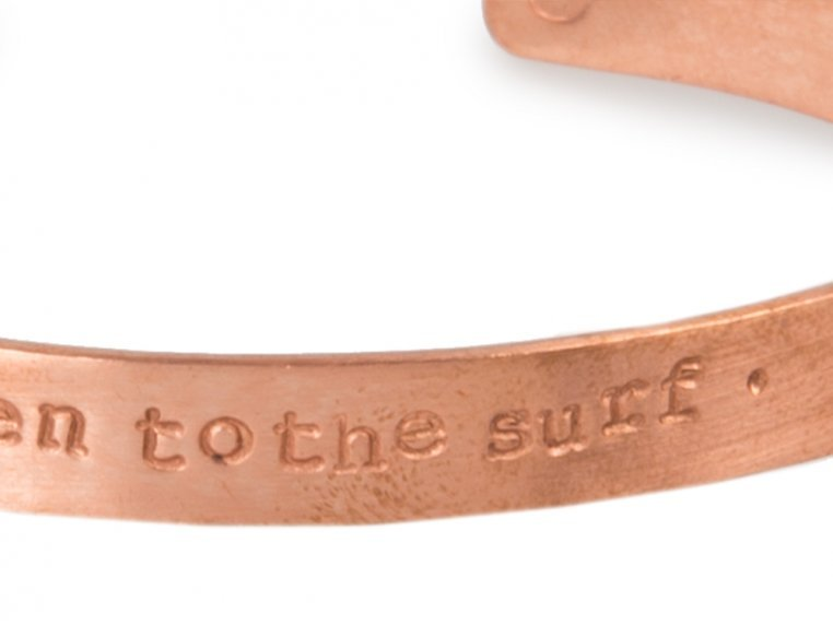 Thin Copper Quote Cuff by Alloy Jewelry - 5