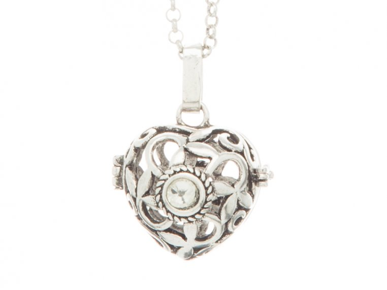 Heart Crystal Angel Locket by Yourself Expression - 3