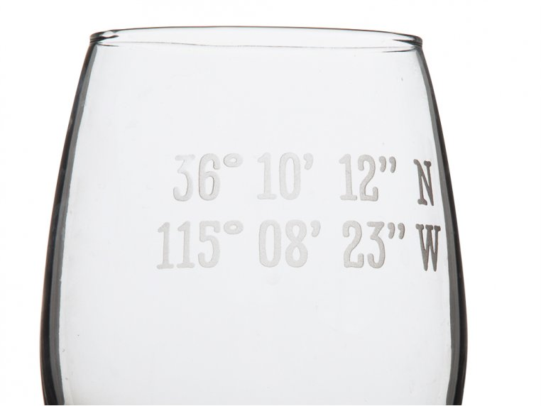 Sand Etched Latitude and Longitude Stemless Wine Glass by Susquehanna Glass Company - 3