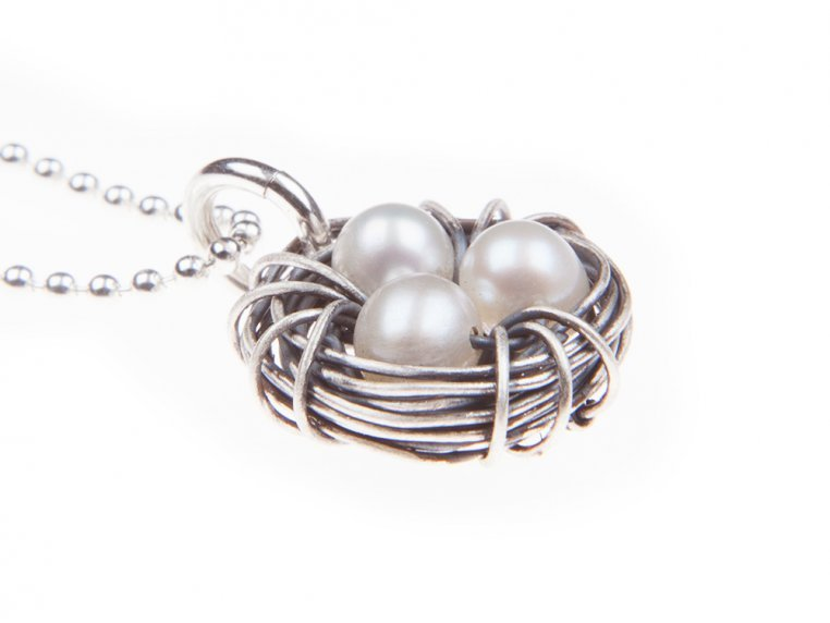 Messy Nest Necklace by The Vintage Pearl - 5