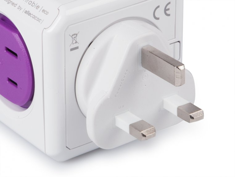 Single Outlet Travel Adapter by PowerCube - 3