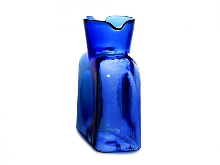 Double Spouted Pitcher by Blenko Glass Company - 3