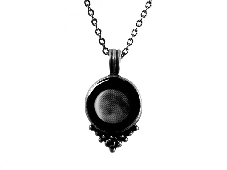 Custom Date Moon Phase Necklace - Classic Design by Moonglow - 5