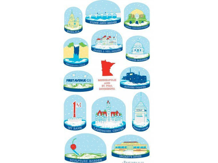 Snow Globe Tea Towels by Vestiges - 5
