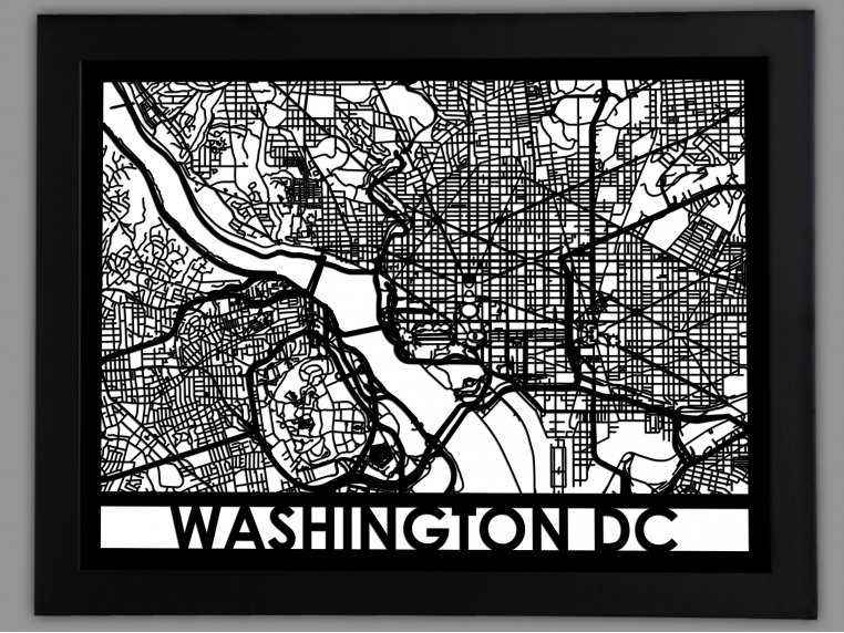 Laser Cut Worldwide City Map by Cut Maps - 5