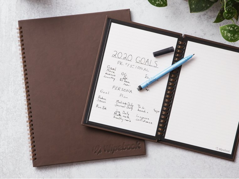 Reusable Whiteboard Notebook by Wipebook Pro - 1