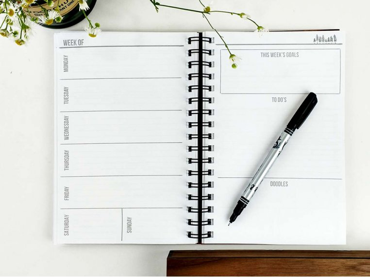 Custom Wooden Cover Weekly Planner by Woodchuck USA - 2