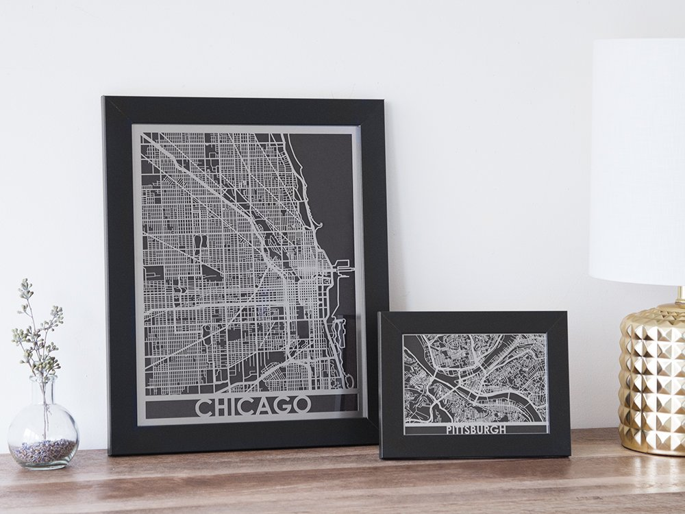 Stainless Steel City Map