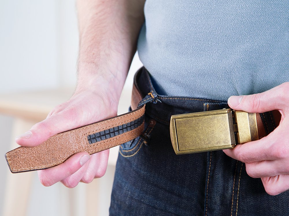 Top Grain Leather Belt & Buckle