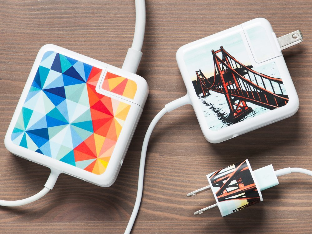 MacBook & iPhone Charger Stickers