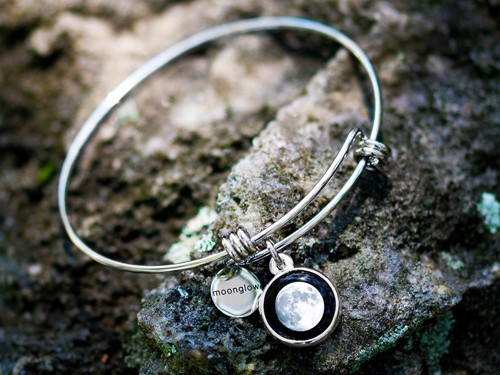 Custom Date Moon Phase Bangle