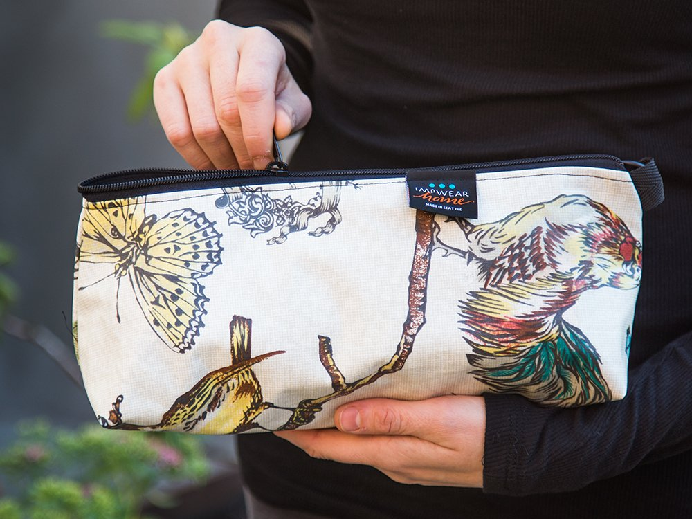 Large Laminated Cotton Pouch