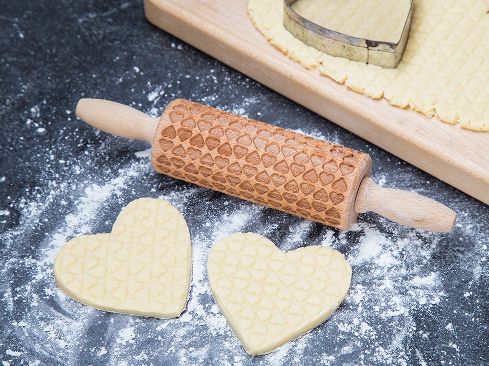 Small Embossing Rolling Pin