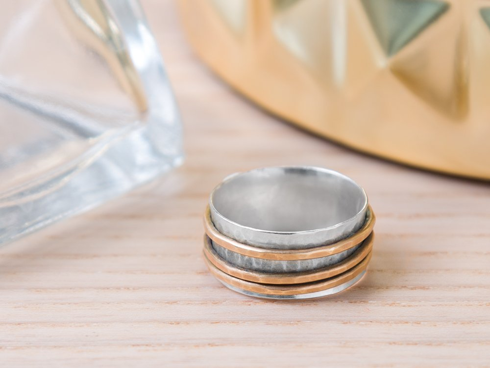 Hammered Spinner Ring