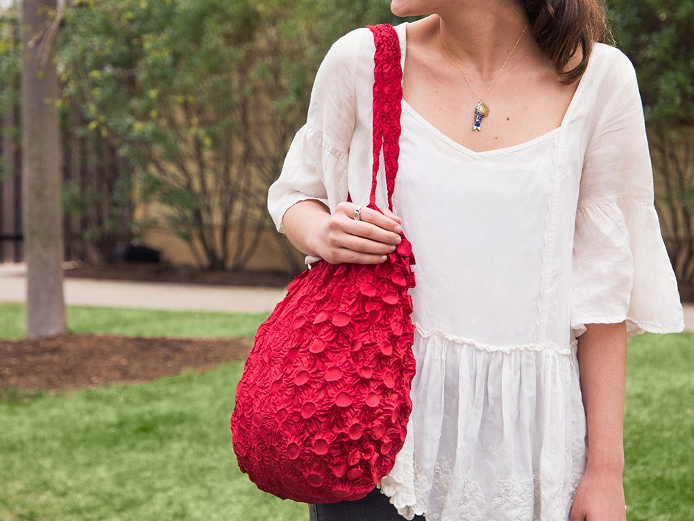 Expandable Shibori Bag