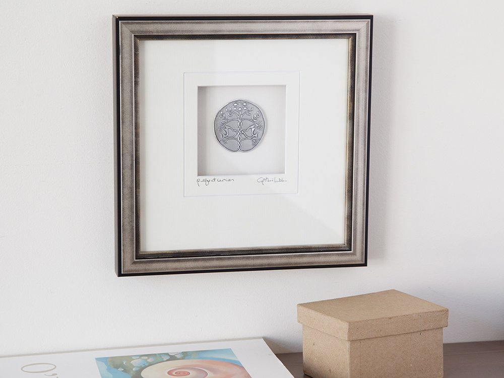 Silver Finish Framed Pewter Artwork