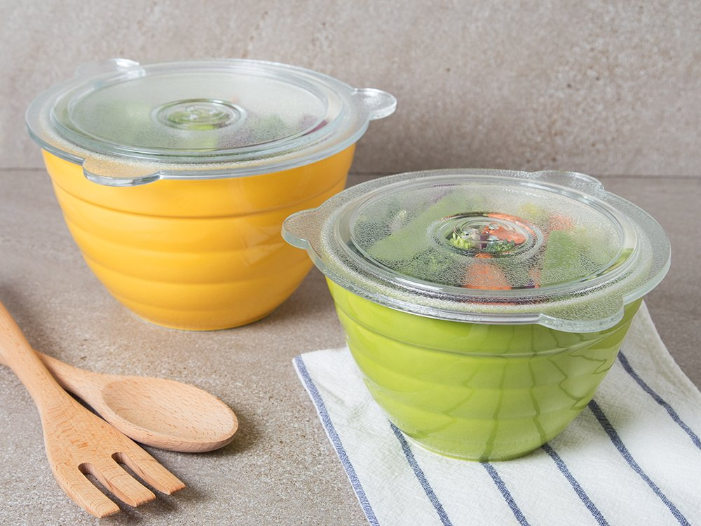 Glass Vented Lids - Set of 2