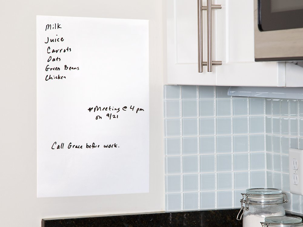 Reusable Stick-On Dry Erase Board