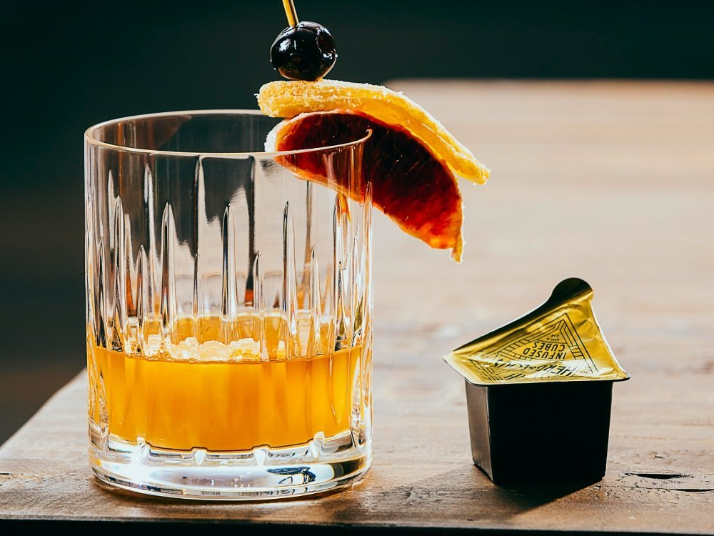 Infused Cocktail Ice Cubes