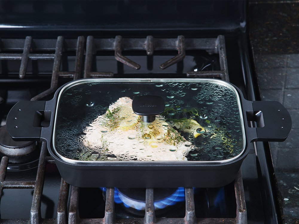 Stovetop Steam Grill - Glass Cover