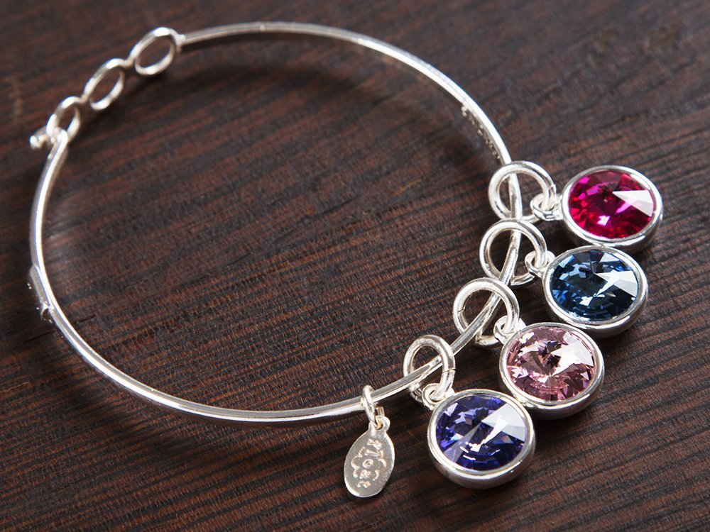 Multiple Charm Birthstone Bracelet