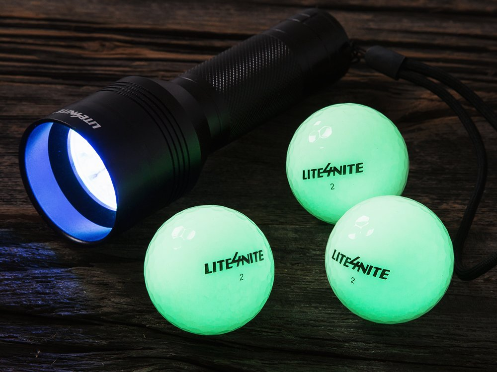 Rechargeable Illuminated Golf Balls