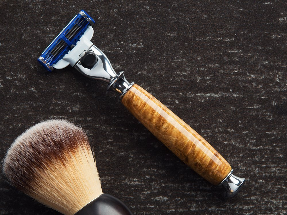 Handcrafted Wooden Razor Handle