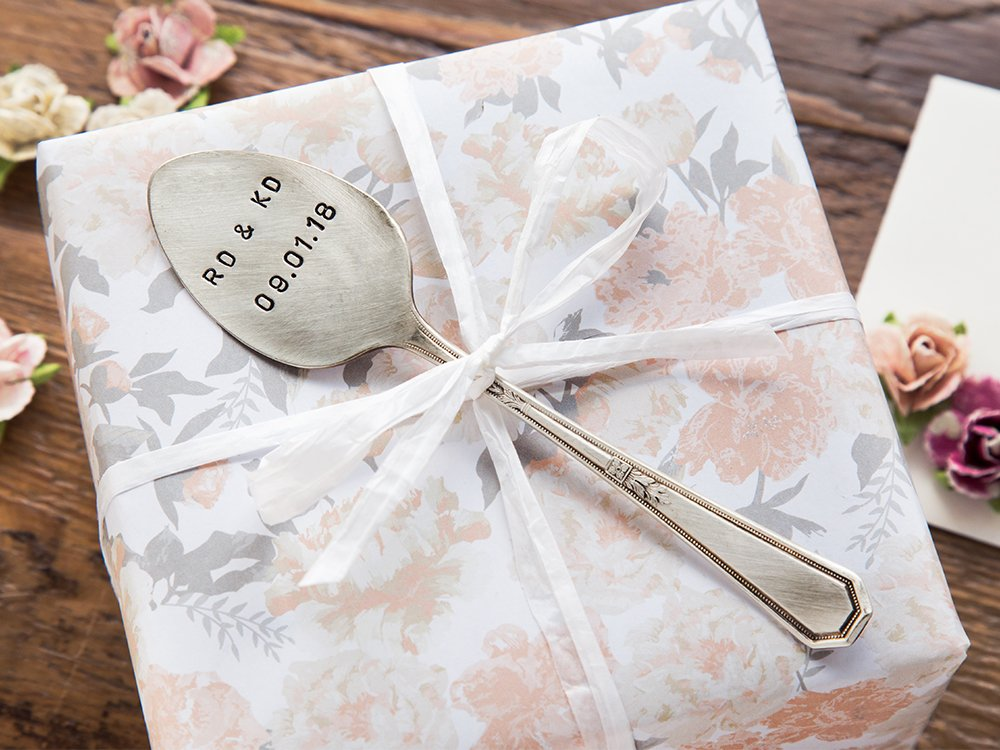 Personalized Vintage Silver Spoon Marker