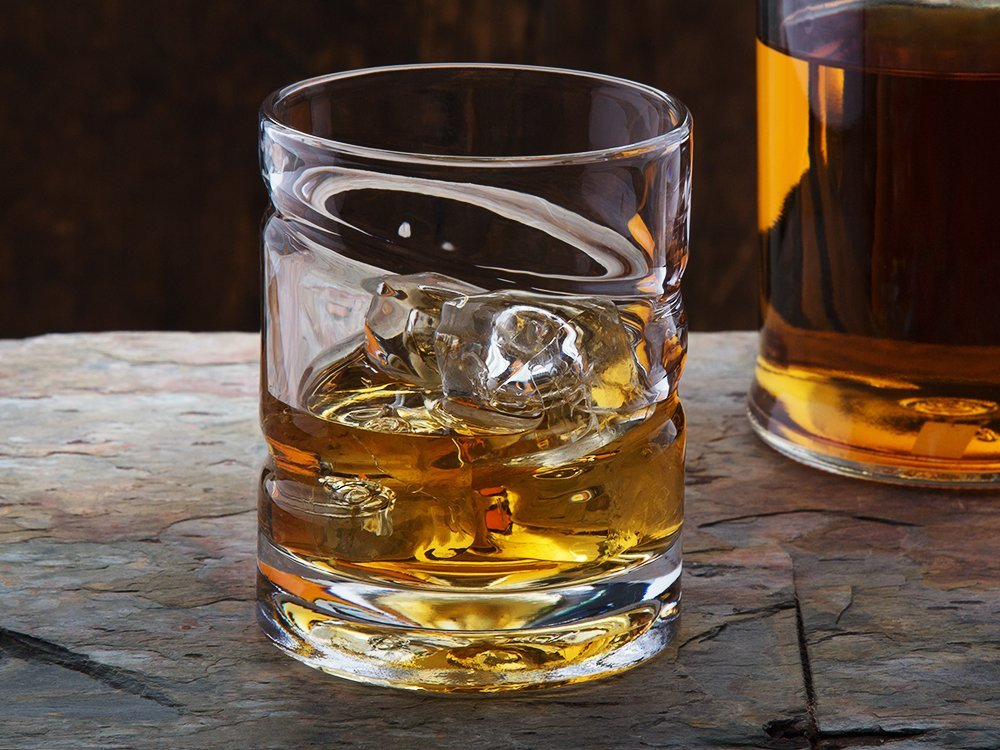 Spinning Whiskey & Spirits Glass