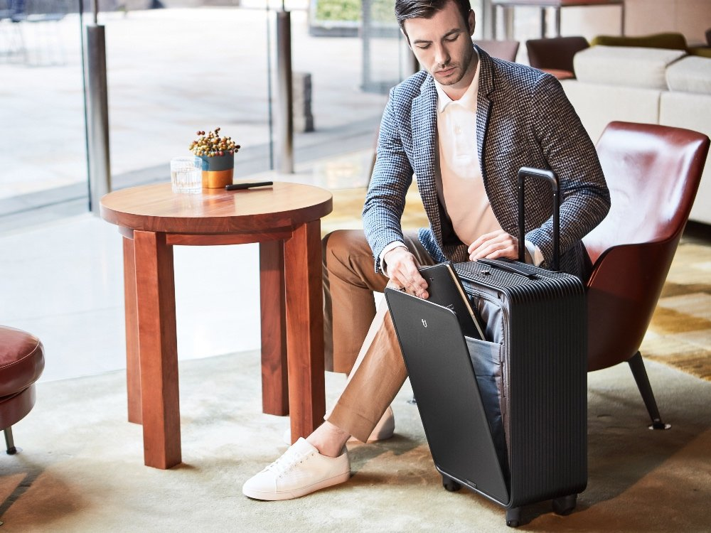 One-Touch Open Aluminum Carry-On