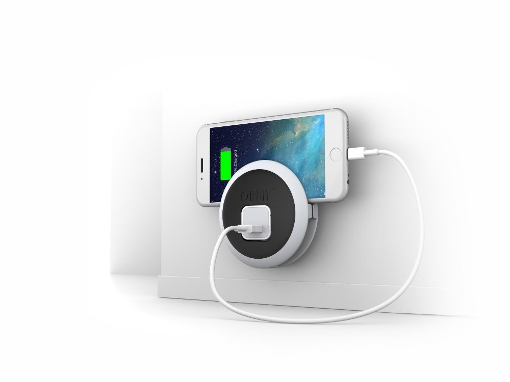 ORBIT™ iPhone Outlet Cord Organizer