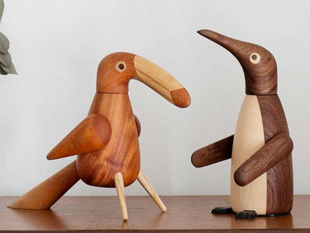 Wooden Bird Salt & Pepper Grinder