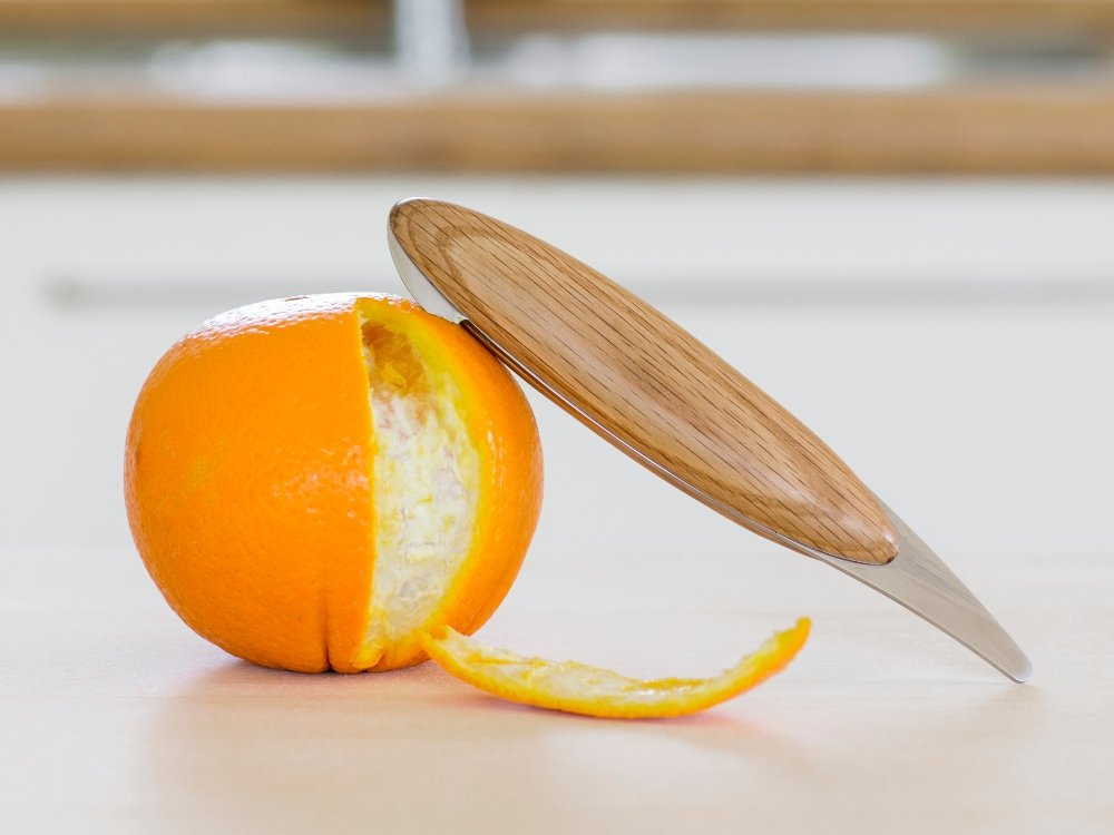 Spring Birds Wooden Orange Peeler