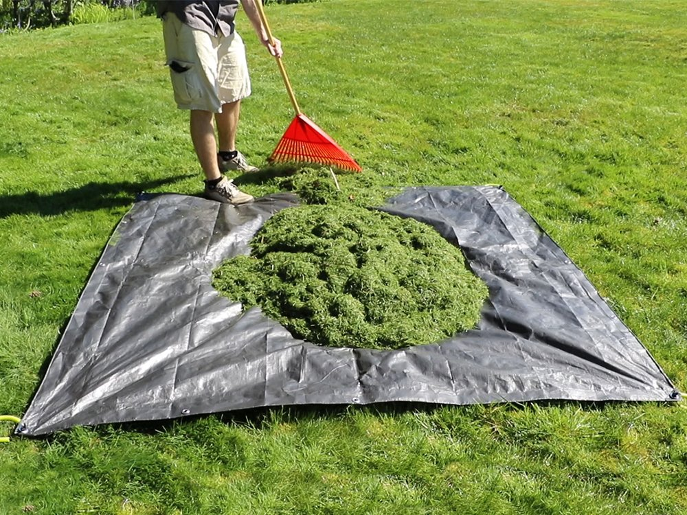 Clean-Up Canvas Tarp with Handles