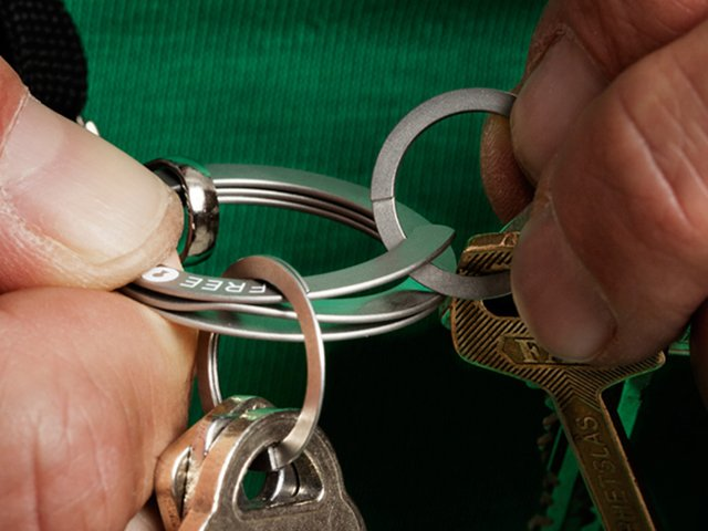 Press-to-Open Key Ring - Set of 3