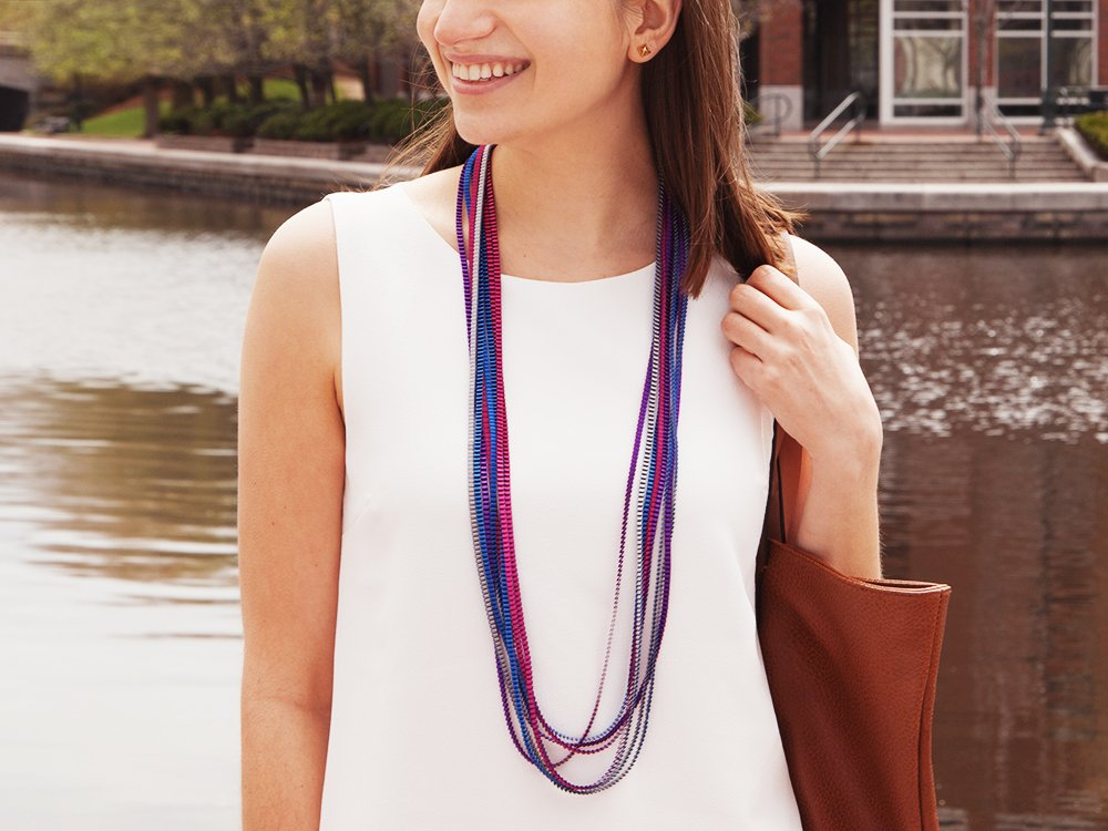 Multicolor Pleated Necklace