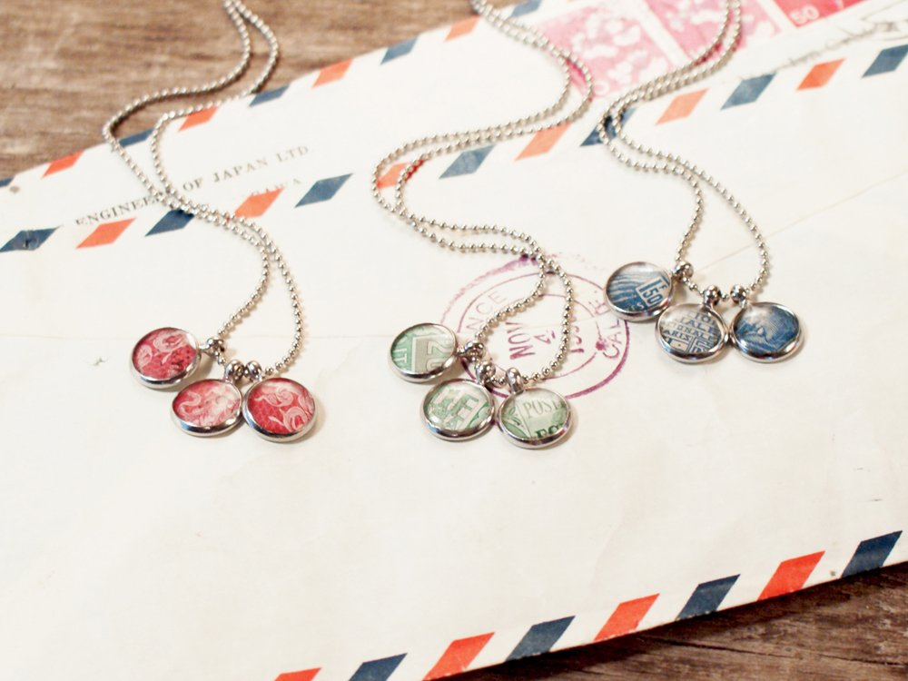 Authentic Stamp Necklaces