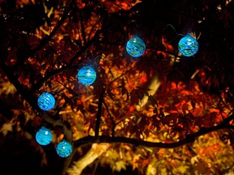 Aurora Solar Glass String Lights
