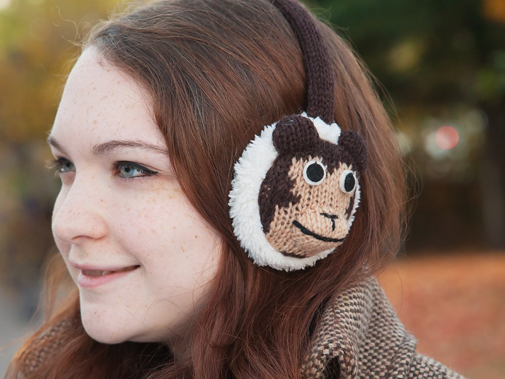 Animal Knit Earmuffs