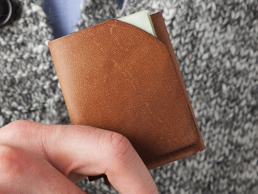 Whiskey Leather Wallet