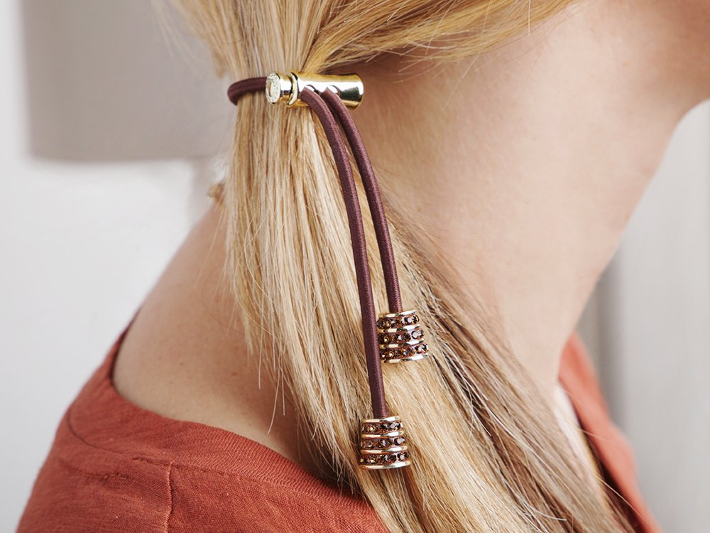Sliding Hair Tie - Crystals