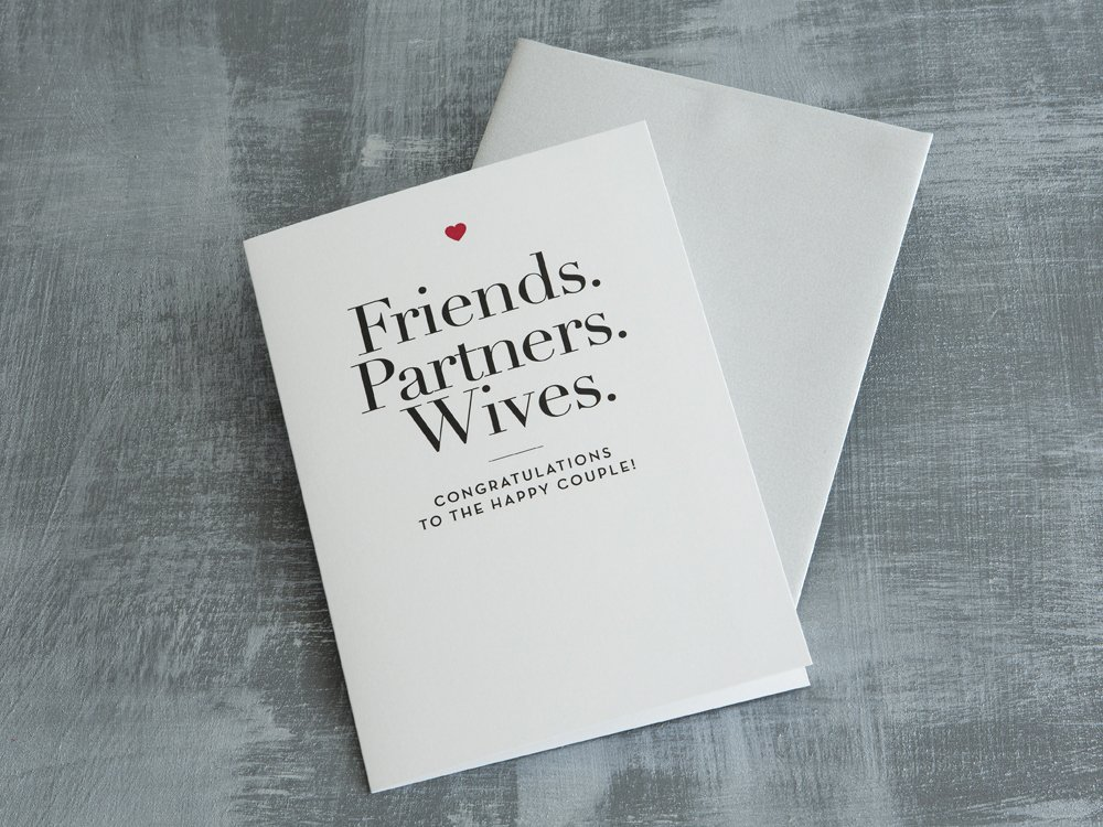 """""""Friends, Partners, Wives"""" Card"""