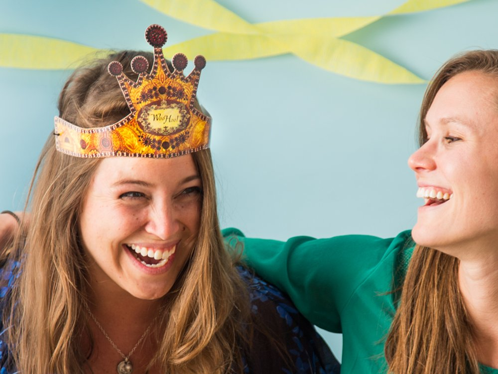 Wearable Crown Greeting Cards