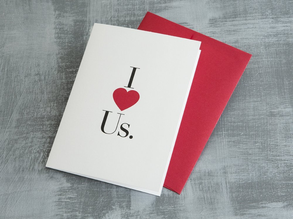 I (Heart) Us Greeting Card