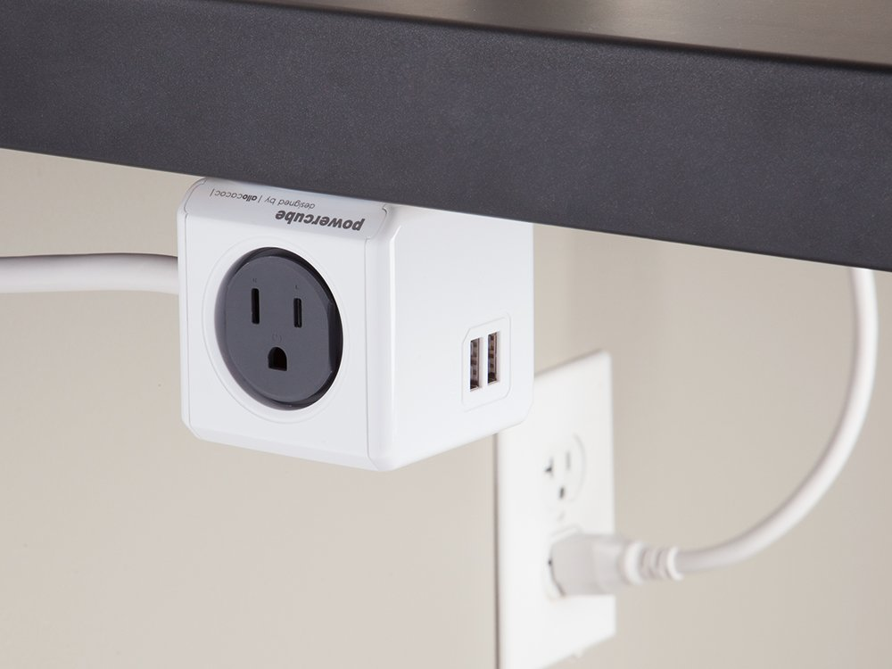 USB Outlet Adapter + 5 ft. Extension